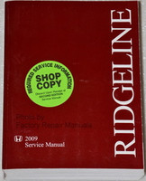 2009 Honda Ridgeline Factory Service Manual - Original Shop Repair