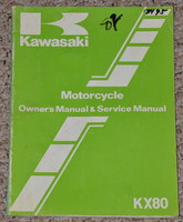1982 KAWASAKI KX80 KX80-C2 KX80-D2 KX 80 Factory Owners Service Repair Manual 82