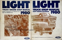 1980 Ford Light Truck Shop Manual Engine Body Chassis Electrical