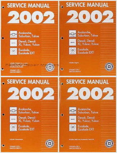 2002 chevy tahoe suburban avalanche gmc yukon denali cadillac rh factoryrepairmanuals com gmc yukon service manual download 2002 gmc yukon service manual