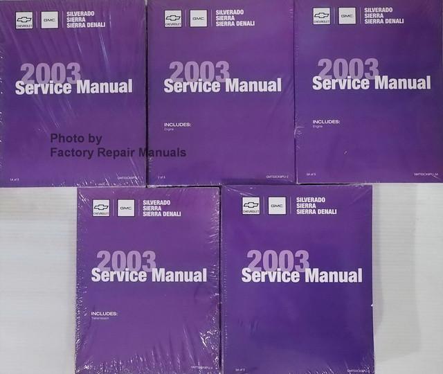 2003 chevy silverado gmc sierra factory service manual 5 volume set rh factoryrepairmanuals com gmc sierra manual transmission swap 2010 gmc sierra service manual