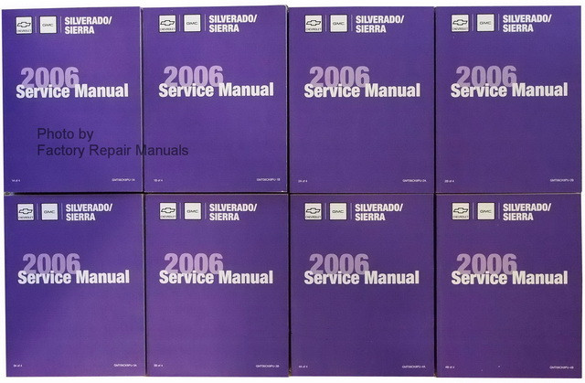 2006 chevy silverado gmc sierra trucks factory service manual set rh factoryrepairmanuals com 2007 GMC Sierra Repair Manual GMC Sierra 1500 Single Cab