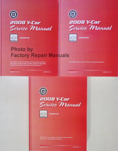 2008 chevy corvette factory service manual set original shop repair rh factoryrepairmanuals com 1972 Corvette 2014 Corvette