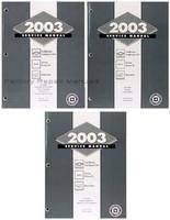 2003 Chevy Trailblazer, GMC Envoy, Olds Bravada Factory Shop Service Repair Manual Set