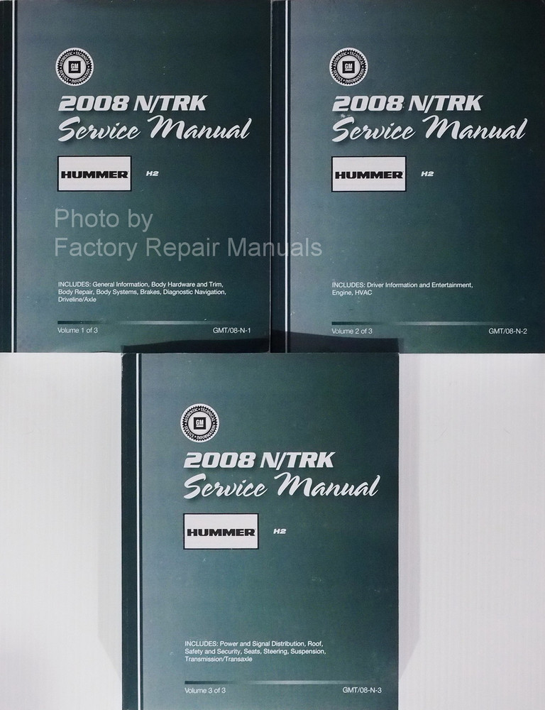 2008 hummer h2 suv pick up truck factory shop service manual set rh factoryrepairmanuals com hummer h2 service manual free download hummer h2 owners manual 2005
