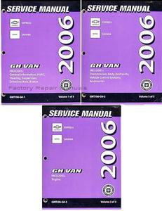 2006 chevrolet express van gmc savana van factory service repair rh factoryrepairmanuals com 2006 Chevrolet Express G1500 2006 Chevrolet Express 1500