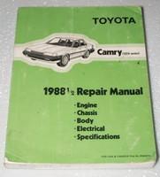 1988 1/2 TOYOTA CAMRY V6 Factory Shop Service Repair Manual 1988.5