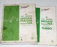 1983 NISSAN PULSAR NX TURBO Factory Shop Service Repair Manual Set Datsun