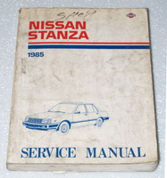 1985 NISSAN STANZA Factory Shop Service Repair Manual