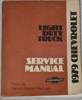 1979 Chevy Pickup Suburban Blazer Van Factory Shop Service Manual C K 10 20 30