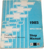 1985 Chevrolet Spectrum Shop Manual
