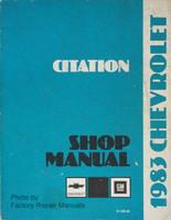 1983 Chevy Citation Factory Shop Manual