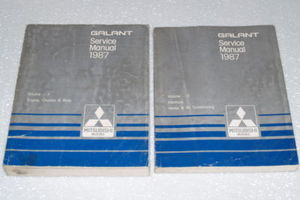 1987 mitsubishi galant factory service manual set original shop rh factoryrepairmanuals com 2003 Mitsubishi Galant Wiring-Diagram Mitsubishi Galant Transmission Standard