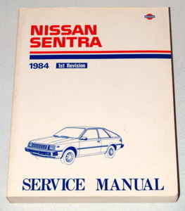 1984 nissan sentra factory shop service repair manual b11 series rh factoryrepairmanuals com Nissan B15 Nissan B1