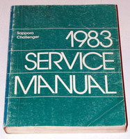 1983 Dodge Challenger Plymouth Sapporo Factory Shop Service Repair Manual