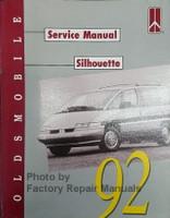 Oldsmobile Service Manual Silhouette 1992