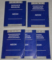 2002 Service Manual Neon Powertrain Chassis Transmission Body Diagnostic Procedures Manuals
