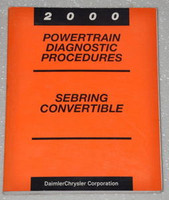 2000 Chrysler Sebring Convertible Powertrain Diagnostics Shop Manual
