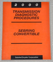 2000 Chrysler Sebring Convertible Transmission Diagnostics Shop Manual