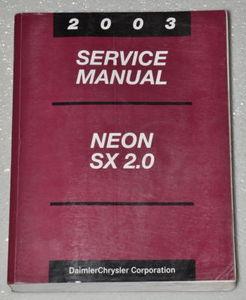 2003 dodge neon sx 2 0 factory service manual original shop repair rh factoryrepairmanuals com 2003 dodge neon owners manual online 2000 dodge neon service manual