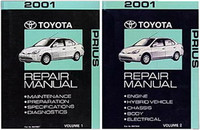 2001 Toyota Prius Factory Service Manual 2 Volume Set Original Shop Repair