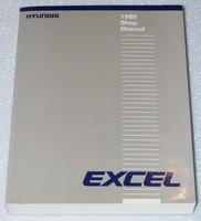 1989 Hyundai Excel Factory Shop Service Repair Manual