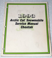 1993 ARCTIC CAT CHEETAH Snowmobile Factory Dealer Shop Service Repair Manual 93
