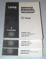 1998 CHEVY GEO PRIZM LSi Preliminary Factory Dealer Shop Service Repair Manuals