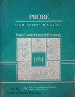 Probe Car Shop Manual 1991 Ford