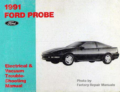 1991 ford probe electrical vacuum troubleshooting manual wiring rh factoryrepairmanuals com 93 ford probe wiring diagram ford probe stereo wiring diagram