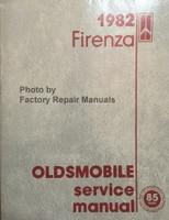 1982 Firenza Oldsmobile Service Manual