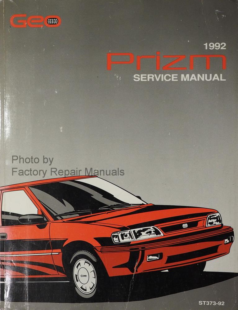1992 chevy geo prizm factory shop service repair manual factory rh factoryrepairmanuals com 2002 Geo Prizm Geo Storm