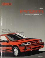 1992 GEO Prizm Factory Service Manual