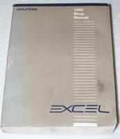 1991 HYUNDAI EXCEL GL GS GLS Sedan Hatchback Original Shop Service Repair Manual