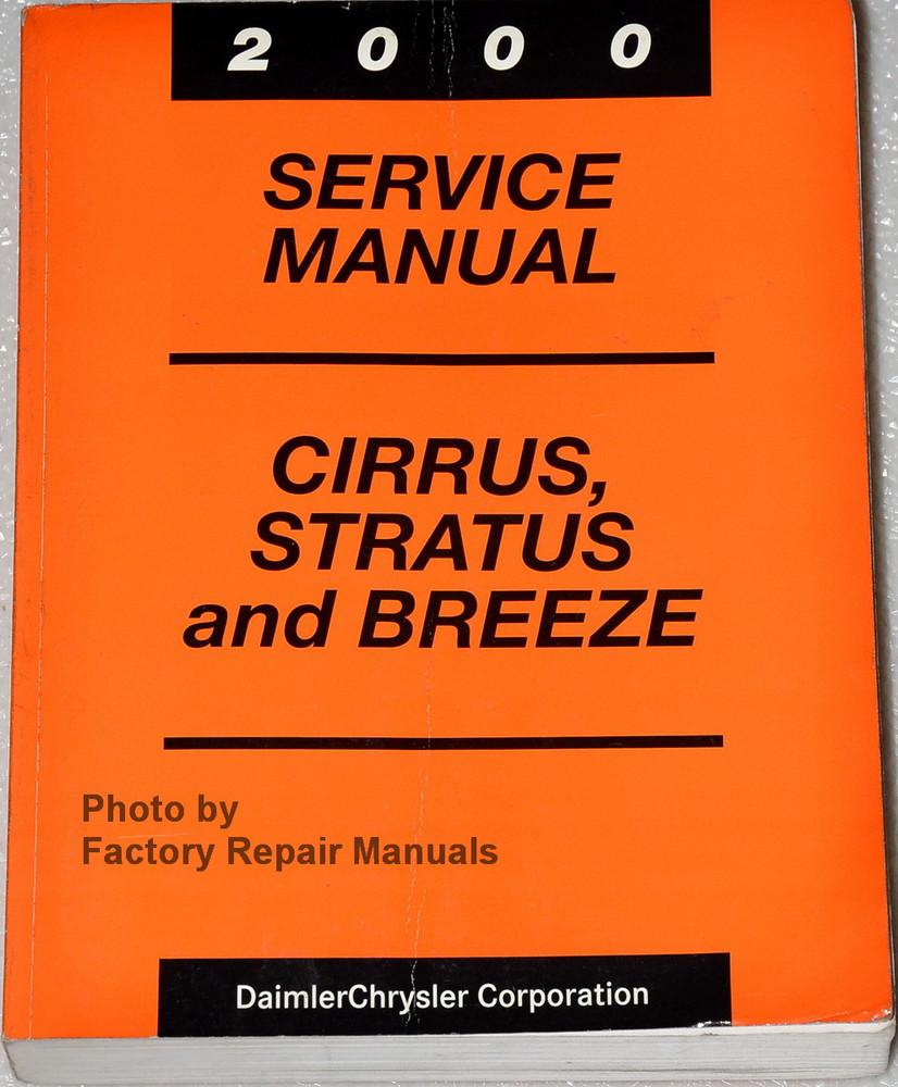 Chrysler Cirrus 2000 Repair Manual Browse Guides 1998 Plymouth Breeze Fuse Box Dodge Stratus Factory Shop Rh Factoryrepairmanuals Com Wiring Diagrams