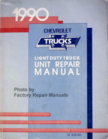 1990 chevrolet Light Duty Truck Unit Repair Manual