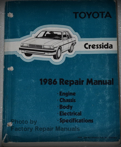 1986 toyota cressida factory shop service repair manual factory rh factoryrepairmanuals com 1989 Toyota 3.0 V6 Engine Toyota Supra Engine