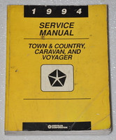 1994 Chrysler Town & Country Dodge Grand Caravan Plymouth Voyager Service Manual