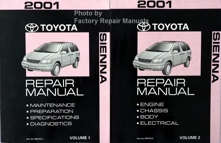 2001 toyota sienna factory service manual 2 volume set original shop rh factoryrepairmanuals com 2001 toyota sienna owners manual 2001 toyota sienna owners manual