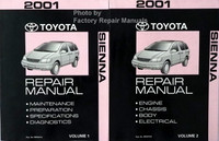 2001 Toyota Sienna Repair Manuals Volume 1 and 2