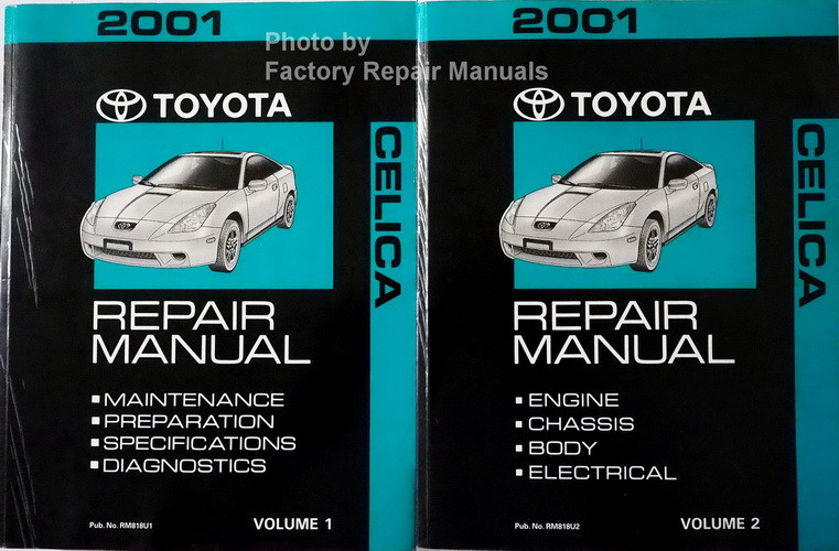 2001 toyota celica factory service manual set original shop repair rh factoryrepairmanuals com 2002 Toyota Celica Repair Manual 2002 Toyota Celica GTS Engine