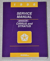 1996 Chrysler Cirrus Dodge Stratus Plymouth Breeze Factory Shop Service Manual
