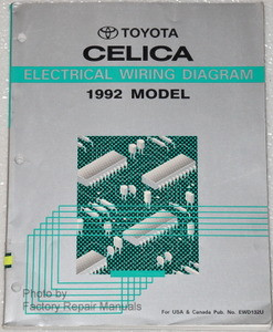 1992 Toyota Celica Electrical Wiring Diagrams Original ...