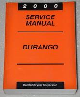 2000 Dodge Durango Factory Service Manual - Original Shop Repair