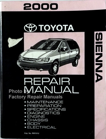 2000 toyota sienna van factory service manual original shop repair rh factoryrepairmanuals com toyota sienna 2000 user manual toyota sienna 2000 manual pdf