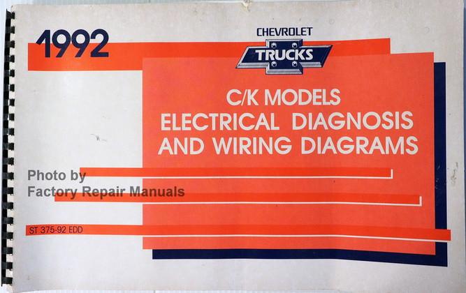 1992 chevy c k pickup truck suburban blazer electrical diagnosis and rh factoryrepairmanuals com