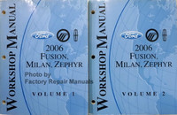 2006 Ford Fusion, Mercury Milan, Lincoln Zephyr Factory Shop Service Manual Set