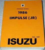 Service Manual 1986 Impulse (JR) Isuzu