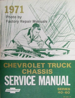 1971 Chevrolet Truck Chassis Service Manual Series 40-60