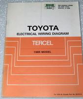1985 TOYOTA TERCEL DX DLX SR5 Electrical Wiring Diagrams Shop Manual AL21 AL25